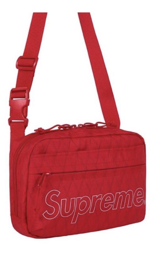 Supreme FW18 Shoulder Bag Red b14e20ac499bf