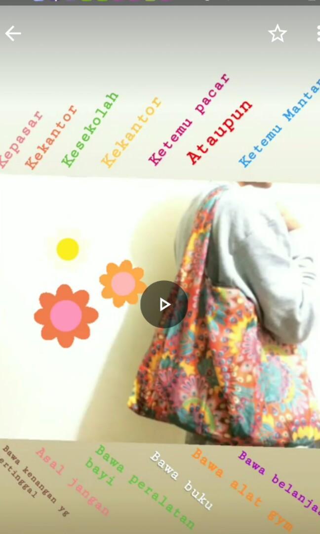 Tas Belanja Lipat / Sling Bag / Eco Bag /