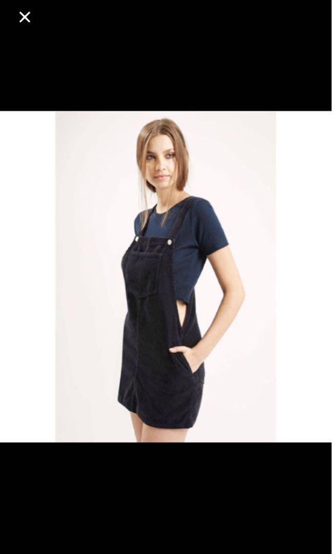 bf1e020f3 Topshop Navy Corduroy skirt, Women's Fashion, Clothes, Dresses ...