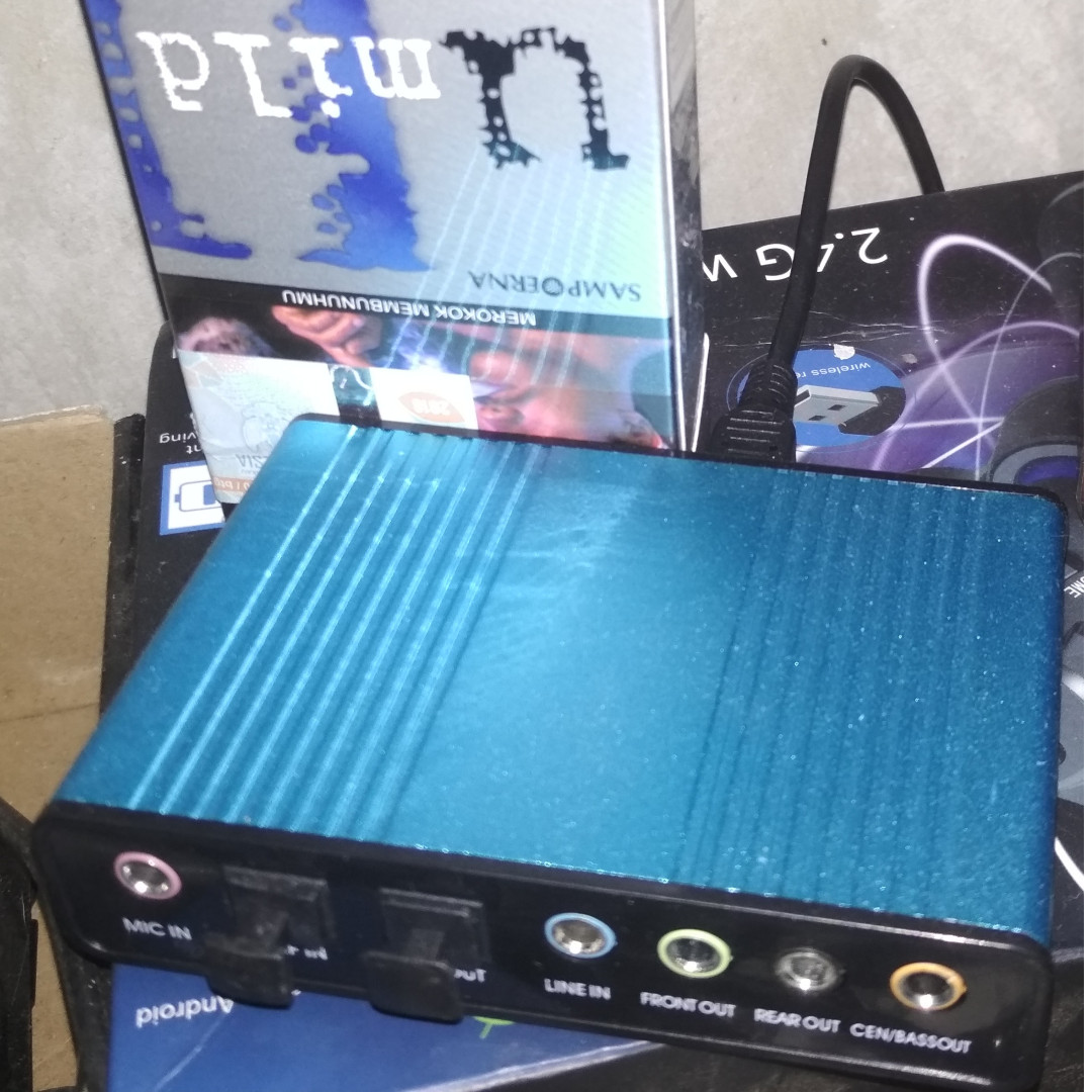 Usb 20 External Sound Card 6 Channel 51 71 Elektronik Audio Di Rexus Desktop Speaker Bluetooth C100 Hitam Carousell