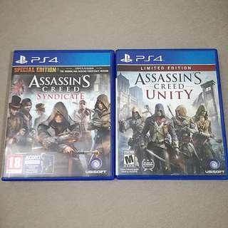 PS4 Assassin's Creed Syndicate & Unity