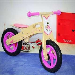Intro OFFER! $89.99 Ernkids Princess Wooden Balance Bike