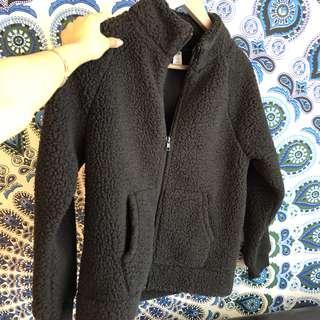 Black Sherpa sweater