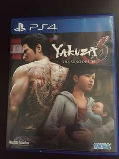 PS4 Yakuza 6 The Song Of Life (Used but in perfect condition)