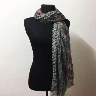 A'postrophe Printed Scarf