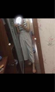 🚚 韓妞腰帶寬褲 可議價#九月女裝半價