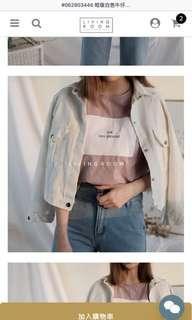 🚚 短板白色牛仔外套#九月女裝半價