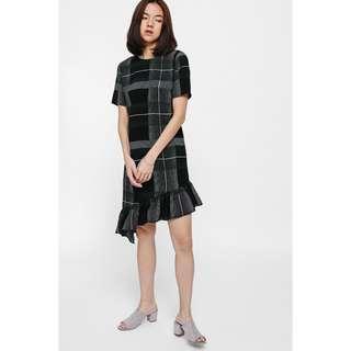 Love Bonito Julipe Plaid Ruffle Hem Dress