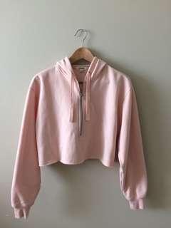 Garage Pink Cropped Sweater