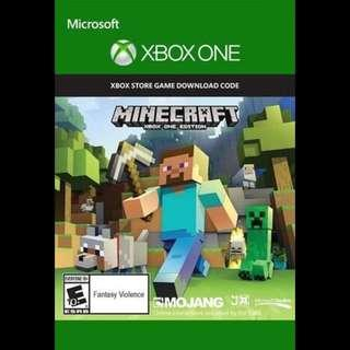 Microsoft Xbox Minecraft Digital Download Code