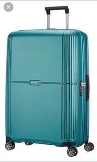 Samsonite luggage in Turqoise Green