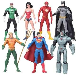 Justice League 7-Characters Set with BONUS SWORD for Wonder Woman