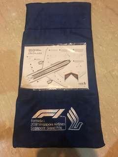 Sia f1 towel + 787-10 Dreamliner plane