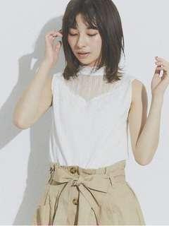 購自日本retrol girl white lace top 上衣 靚質地 彈性布料 日系 日牌