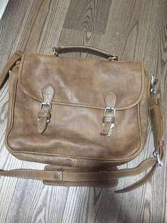 Roots Genuine Leather Messenger Bag