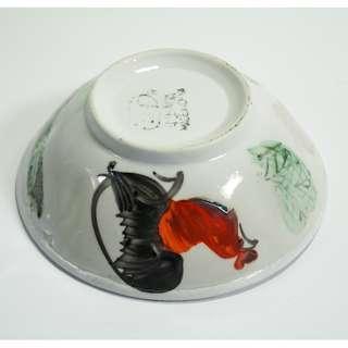 Vintage Hand Painted Chicken Porcelain Bowl