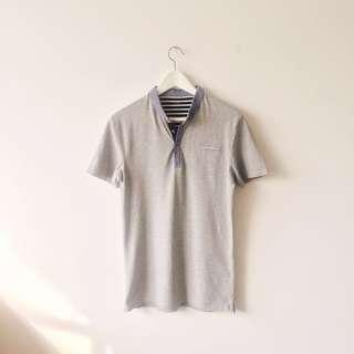 BN Celio Grey Depetit Cotton Micro Piqué Polo Shirt