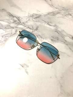 😎渡假風藍紅色漸變太陽眼鏡🕶Blue-pink gradient sunglasses