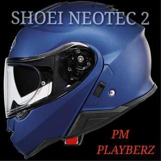 SHOEI NEOTEC 2 MATT METALLIC BLUE