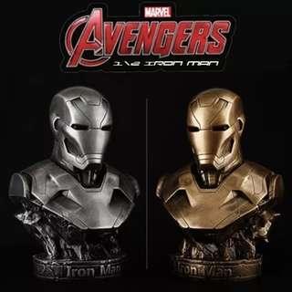 SALES!! Ironman Mark 46  1/2 Half Body Figurine Avenger Iron Man Hulk