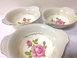 Set of 3 Fine Bowls by Alfred Meakin England