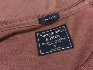 Abercrombie & Fitch Maroon Muscle Tee