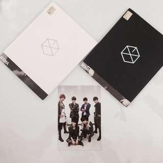 EXO K & EXO M Mama Albums Group Official Photocard