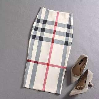 🔱⏳ Designer Inspired monogramic Pencil skirt