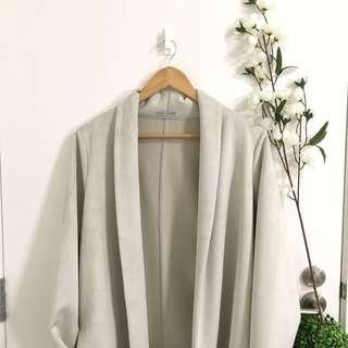 ZARA faux suede coat size S