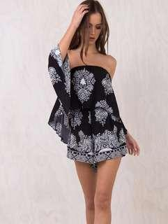 Echo Beach Off The Shoulder Playsuit