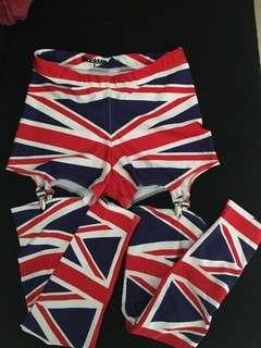 Blackmilk Union Jack stirrup leggings