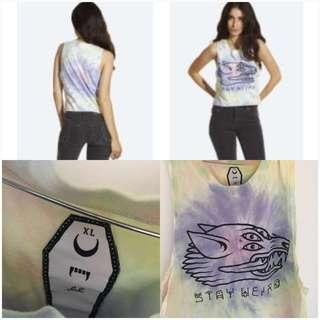 DROP DEAD STAY WEIRD CROPPED TANK