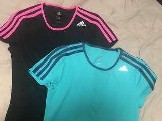 2 x Authentic ADIDAS exercise shirts (bulk buy)