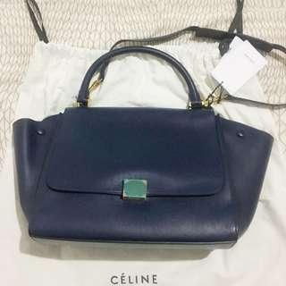 SALE CELINE TRAPEZE MEDIUM REMOVE SHOULDER STRAP (INK-NAVY COLOUR)