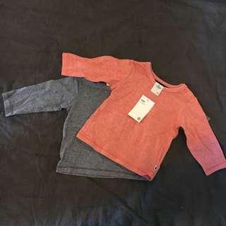 2x Baby Skivvy Tops   Brand New with Tags  