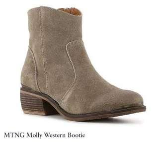 MTNG molly western booties size 6