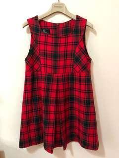 🚚 女童格紋裙