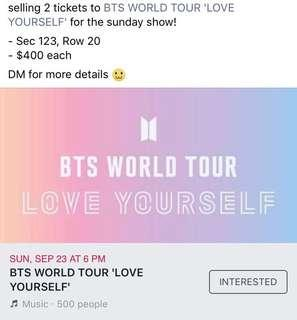 BTS Love Yourself World Tour Hamilton