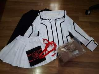 URGENT CLEARANCE Vampire Knight Ruka and Rima Cosplay Costume and Wig Set
