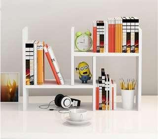 🚚 團購 桌上型置物架 H型書架 寢室利用空間 自由組合 設計款 幾何圖型 全木製書架 另有多重尺寸 黑色木色棕色白色
