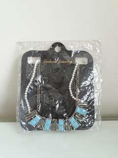 🚚 全新 歐美誇張金屬風項鍊 飾品配件 金色項鏈 氣質約會珍珠項鍊