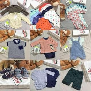 Baby Boy Newborn Onesies Longsleeve Polo Shoes Shorts