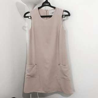 I love Fashion Peach Nude Dress