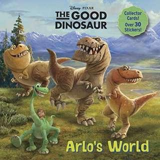 (Brand New) Arlo's World (Disney/Pixar the Good Dinosaur) Super Deluxe Pictureback with over 30 stickers, plus game cards and a poster! By: Rh Disney