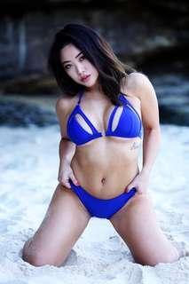 Blue bikini size XS
