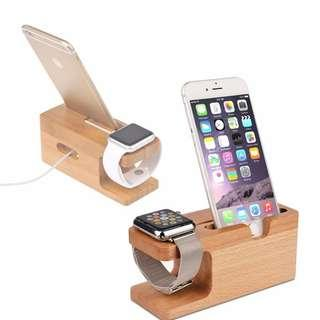 🚚 Apple Watch Stand Dock #Iphone #Mobile #Wood #CAROUPAY