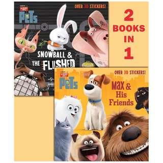 (Brand New) Max & His Friends/Snowball & the Flushed Pets (Secret Life of Pets) Pictureback Books   By: Random House, Illumination Entertainment (Illustrator) Paperback  For Ages: 3 - 7 years old