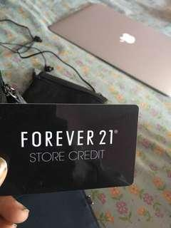 $40 Forever 21 Store Gift Card