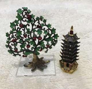 Repriced!!!  •Wish Fulfilling Tree of Apples and Pagoda