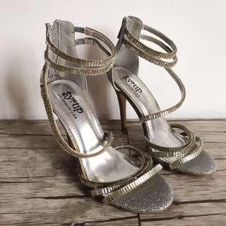 Silver Glitter Stilletos